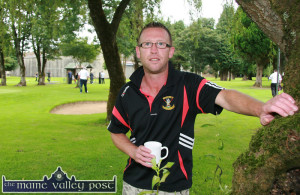 The late Timmy Broderick enjoying a cuppa at the All-Ireland Three-Ball Scramble competition finals at Castleisland Pitch and Putt Club in August 2013. ©Photograph: John Reidy 25-8-2013