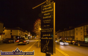 Signs On: The signs are up and the town is ready for its annual festival of music and merriment. ©Photograph: John Reidy