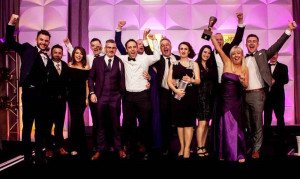 Radio Kerry management and staff  'on air' after their latest award. Included are from left: Cathal Flaherty, Murt Mulcahy, Siofra Mulqueen, Ciaran O Regan, Shane O Connor, Andrew Morrissey, Trevor Galvin, John Herlihy, Treasa Murphy, Aisling O Brien, Jerry O Sullivan, Fiona Stack, Brendan Fuller.