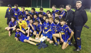 The Ballymacelligott U-16 team and mentors following their victory over John Mitchell's in Division 3 of the Coiste TraLi League Final.