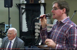 Benny Thade McCarthy at the launch of his Rambling House season in Abbeyfeale.