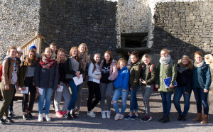 The Pres students and teachers pictured during their recent trip to Newgrange.