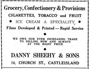 Danny Sheehy's operated at No. 14 Church Street.
