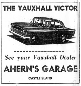 Ahern's Garage - a live link with the 1970s Castleisland and today.