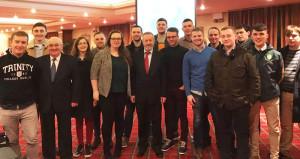 At the Kerry Young Fine Gael AGM in Killarney at the weekend were from left: Michael Ward, YFG Vice-President; Killian Foley-Walsh, Senator Paul Coghlan, Clodagh Murray, Stephen Browne, President of YFG;  Marian O'Donnell, Brain O'Regan, Seán Kelly MEP, Micheál Mangan, Stephen O'Sullivan, Conor O'Mahony, Cian O'Sullivan, Jerry O'Shea, Daniel Burke, John Forde, Art O'Mahony and Ryan McGinley.