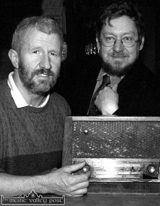 Radio Days: Kieran Hanrahan, presenter and Peter Browne, producer,  pictured during a a Céili House recording at Brennan's Bar.  ©Photograph: John Reidy