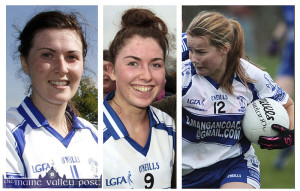 Lorraine Scanlon (left) will be joined on the Kerry National League team by club colleagues, Eilís Lynch and Andrea Murphy for their game against Dublin in Castleisland on Sunday at 2pm. ©Photographs: John Reidy
