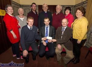 Brosna Church Fundraising Cheque 25/01/2017