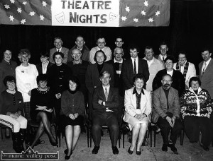 Members of the organising committee of the 1993 Kerry Drama Festival front row: Sally O'Neill, Jean Horgan, Mary Murphy, Jerome Stack, director; Nora Relihan, Muiric Mac Curtáin and Gaby Keane. Middle row from left: Margaret O'Mahony, Beth Carty, Ann Marie Shanahan, Petra Howarth, Ciaran Fleming, Mary Howarth, Mike Healy, Jack Shanahan, Danny Broderick, Joe Martin, Breda Broderick, Joan Kelliher and John Keane. Back from left: Oliver O'Neill, Batty O'Mahony, Aiden Reidy and Denis O'Donovan. ©Photograph: John Reidy  1-3-1993