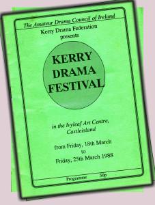 Kerry Drama Festival 1988.