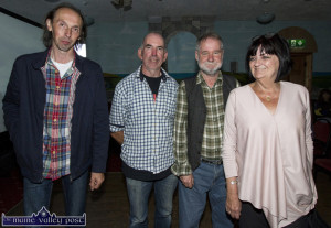 At the showing of the Sé Mo Laoch on Jackie Daly in Miltown Malbay were: Mick Culloty, Currow; PJ Teahan, Castleisland; Jackie Daly and Susan Cox, Miltown Malbay.  ©Photograph: John Reidy 7-7-2016