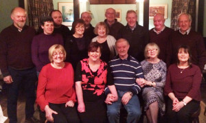 Joe O'Riordan (seated) pictured at his 60th birthday celebrations at Sherwood's Bar and Restaurant in Farranfore on Friday night. Included are: Front from left: Kathleen Leddy, Patricia, Helen and Ann O'Riordan. Back from left: Tom and Ann Marie O'Riordan, Shane and Joan Breen, Con O'Riordan, Mary Fee, John O'Riordan, Noel Breen, Eamonn Fee and Brendan Leddy.