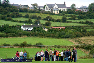 In a field below the village: A view of Knocknagoshel from Willie Walsh Memorial Park - where Knocknagoshel seniors will play neighbours, Duagh on  ©Photograph: John Reidy