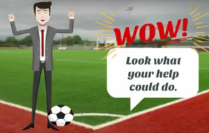 The 'Poor Pa' animation on the development of the new pitch.