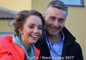 Aisling and Philip O'Connell enjoying the Cordal/Scart V Kerins O'Rahilly's game last Saturday. ©Photograph: CúlPix/Nora Fealey.
