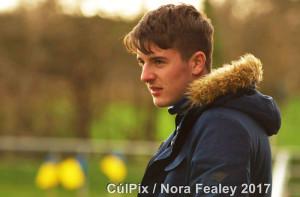 Jason Cronin enjoying last Saturday's minor game in Cordal. ©Photograph: CúlPix/Nora Fealey