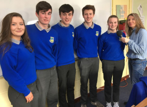 The Thought of the Day for this week comes from Castleisland Community College Transition Year students from left: Laura Fleming, Mark O Donoghue, Kevin Keane, James McDonnell and Saoirse Murphy. The students are pictured here with Mary Fagan, Radio Kerry.