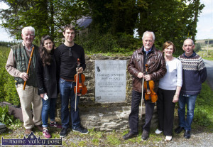Members of the O'Connor family from Dublin: Mick,  Niamh, Liam and Anne pictured with Matt Cranitch and PJ Teahan, World Fiddle Day co-organiser on a visit to Patrick O'Keeffe's during world Fiddle Day 2015. ©Photograph: John Reidy