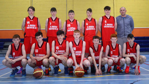 St. Mary's U-16 boys, Division One County League runners-up with their coach Michael Broderick.   Front from left: