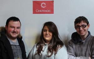 Academy bound: Patrick Cronin, Knocknagoshel (left) with Rhiannon Murray, Newcastle West and Josh Rolfe from Abbeyfeale are heading to Cinemagic, Dublin Film Academy next week.