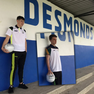Castleisland Desmonds GAA Club footballers, Adam Donoghue and Luka Brosnan (inset) have been drafted into the Kerry Minor squad for this year's campaign. Photographs: Gerdie Murphy.