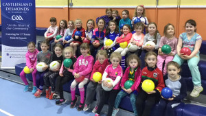 Waiting for the thaw: Enthusiastic Castleisland Desmonds GAA Club members at one of their regular, early season training sessions at the local community centre.