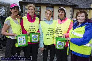 Collecting on Good Friday morning 2016 were from left: Liz Galwey, Marian O'Connor, Audrey O'Mahony-O'Sullivan, Eileen Murphy and Tess Fitzgerald. ©Photograph: John Reidy 25/03/2016