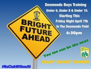 A Castleisland Desmonds GAA Club recruitment poster.