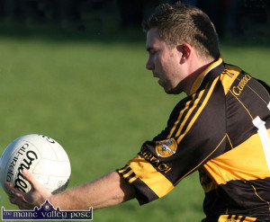 John Buckley punched the winning point for Currow in the dying moments.  ©Photograph: John Reidy