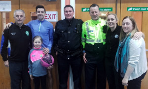 Organisers and guests at the annual KDYS/ An Gárda Síochána Good Friday basketball Blitz at castleisland Community Centre: Included are: Tom McCarthy, Garda Aidan O'Mahony with Andrea Greer, Garda Declan Hallett, Sgt. John O'Mahony, Garda Mary Gardiner and Garda Liz Twomey.