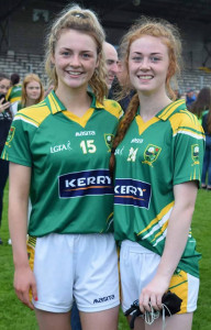 Labhaoise Walmsley (left) and Kayla O'Connor on the Kerry minor team to face Cork in Killarney on Sunday.