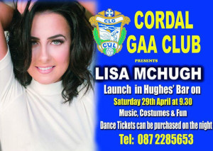 Cordal GAA Club invites you all to attend the Launch of our 2017 Fundraiser event, The Lisa McHugh Concert.
