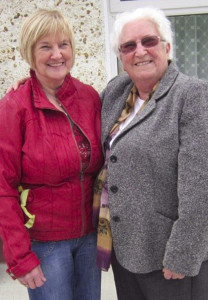 The late Sr. Margaret Mary / Peg Rahilly (right) pictured with her Castleisland based sister, Sheila Murphy.