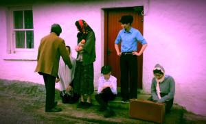A still from from 'The Moonlighters' shot at O'Sullivan's in Gortacoppal in Scartaglin.