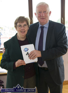 Games Secretary, Margaret Culloty getting the No 1 vote from  Frank Hayes, Director of Corporate Affairs, Kerry Group before the 2015 Denny Kerry Community Games Athletics Finals at An Riocht AC in Castleisland. ©Photograph: John Reidy 20-6-2015
