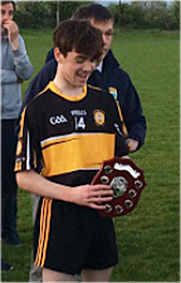 Currow U-14 captain David Moriarty who was top scorer with 2-3 in their U-14 County League game against Renard.