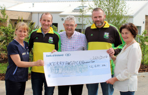 Maurice O'Connor and Larry Hickey Hospice Cheque 26/05/2017