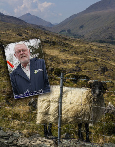Sinn Féin TD Martin Ferris, highlighting what he calls the dreadful position that hill farmers have been put in due to  land designation and the redistribution of ANC and the bureaucracy of GLAS. ©Photographs: John Reidy