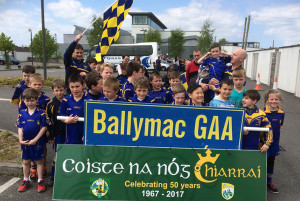 Members of Ballymac Coiste Na nÓg at the 50th anniversary parade on Sunday in Castleisland.
