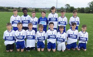 Good start: Desmonds U-14  boys with their new Tomo Burke / Beko Electrical jerseys. Photograph: Gerdie Murphy