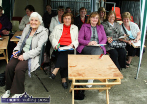 Enjoying their Drive-In Bingo session from their gazebo at the Mart Yard on its first trial in the area in 2011 were from left: Phylis Mitchell, Margaret Nolan, Margaret McSweeney, Maureen Sugrue and Mary O'Sullivan. ©Photograph:  John Reidy