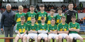 The Kerry U-14 team members who played their Clare counterparts at Cusack Park, Ennis on Sunday 11th June 2017. Front from left: Ryan Dennehy, Óisín Kennelly, Luke Crowley, Donal Daly, Rónán Ó Beaghlaoich, Jack O'Keeffe. Back from left: Jack Clifford, Kieran Ó Conchúir, Adem Gul, Joe Cronin, Patrick Lyons. If anyone can supply the names of the mentors in the photograph please let us know on a left and right order.