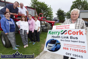 Castleisland Vintage Run chief organiser, Noel O'Connor spreading the word for his sixth annual run on Sunday, June 18th at 1pm. Noel is pictured with his co-organisers: Mary Counihan, Margaret, Sandra, Eileen, Matt and Frank O'Connor. ©Photograph: John Reidy