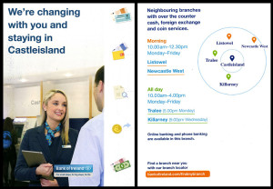The two most locally relevant pages in the Bank of Ireland leaflet.