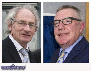 Cllr. Michael Gleeson and Cllr. Bobby O'Connell getting honourable mentions for their varied contributions to the Castleisland Tidy Towns 2017 campaign. ©Photographs: John Reidy