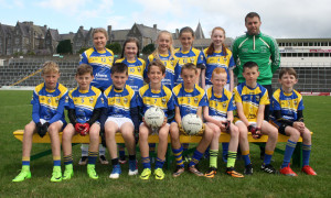Cordal U-12s and their mentor, Michael Cahill at Fitzgerald Stadium, Killarney for the Munster Go-Games Blitz which was held on Thursday 20th of July.