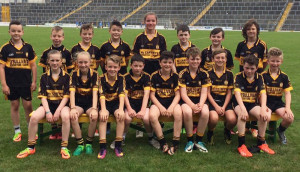 The Currow U-12 team which participated in the Munster GAA Go Games blitz on Tuesday in Fitzgerald Stadium. Front  row: Clodagh Coffey, Aoife Roche, Ruairi Brosnan, Joseph Cronin, Lee Normoyle, Eamonn O'Mahony, Cathal Sheehan, David McCarthy and Owen O'Connor. Back from left: Daniel Daly, Luke Twoney, Daniel McCarthy, Josh Daly, Juila Curtin, Sean Brosnan, Mark O'Connor and Dominic Peters. 18-7-2017