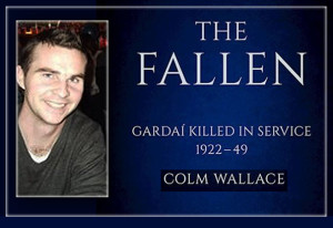 'The Fallen' and its author, Colm Wallace.