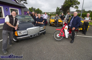 Participants and organisers of the Kingdom Veteran Vintage & Classic Car Club and Honda 50 Charity Run at the announcement of details of Friday evening's run. Included are:  Tom Glover (left) with Brian Glover, Peter O'Connor, Joan and George Glover, John Reidy, David O'Mahony, Gareth Foley, Gary Horan, Timmy O'Connor and Paul Horan. ©Photograph: John Reidy