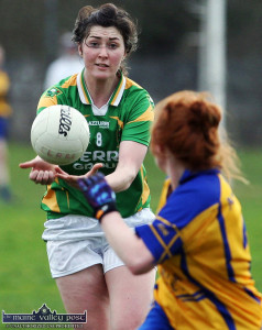 Kerry midfielder, Lorraine Scanlon - one of the more experienced of the local players on duty with the Kerry Ladies in the Munster championship final against Waterford on this Saturday. ©Photograph:John Reidy
